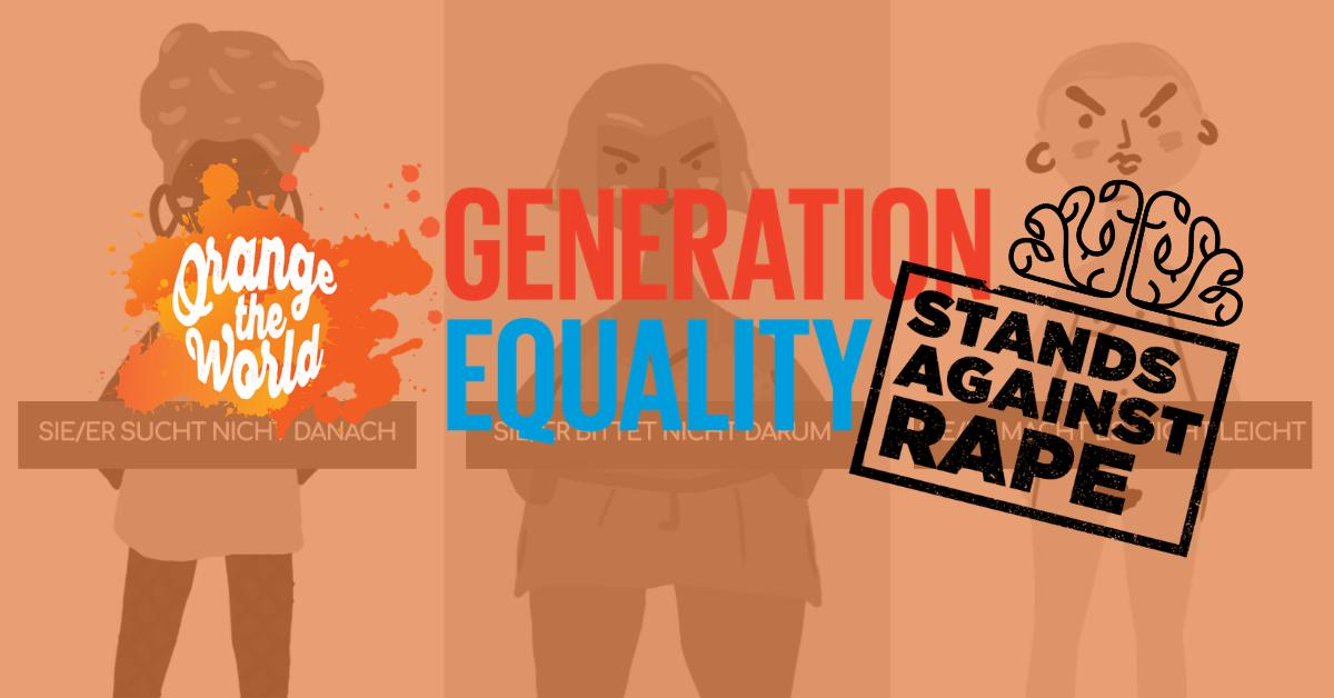 Gegen Vergewaltigung färbt sich das Knowmad Institut orange