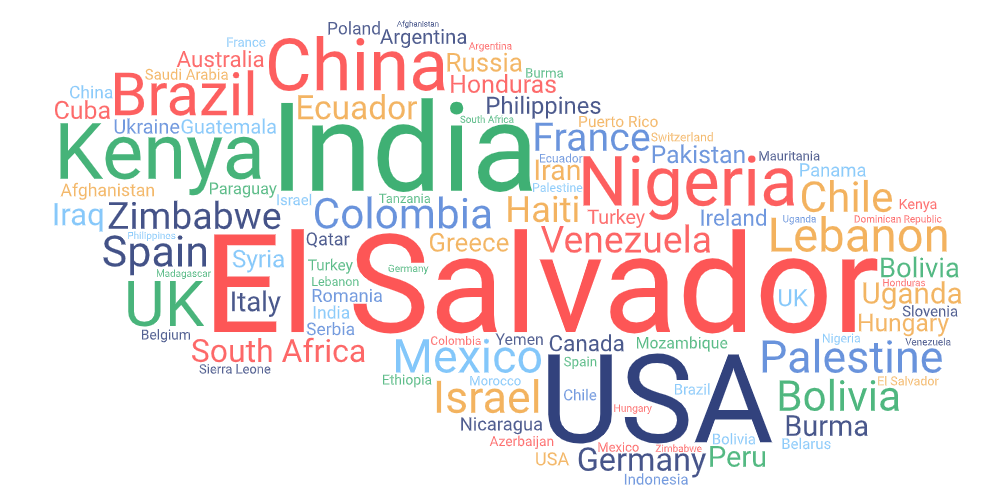 Wordcloud Countries with the highest number of reports_03.01.2021